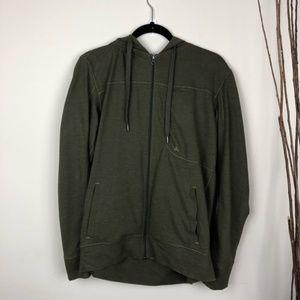 PRANA | Men's Green Full Zip Hooded Sweatshirt | M
